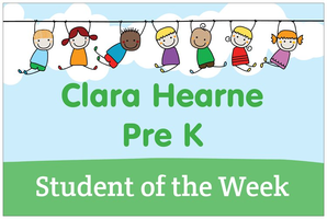 Clara Hearne's Students of the Week!
