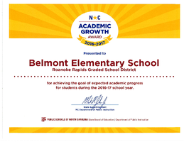 Belmont Receives Growth Award