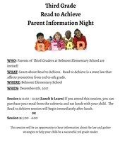 Read to Achieve Parent Information Night