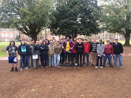 Students Tour ECU's Construction Management Program