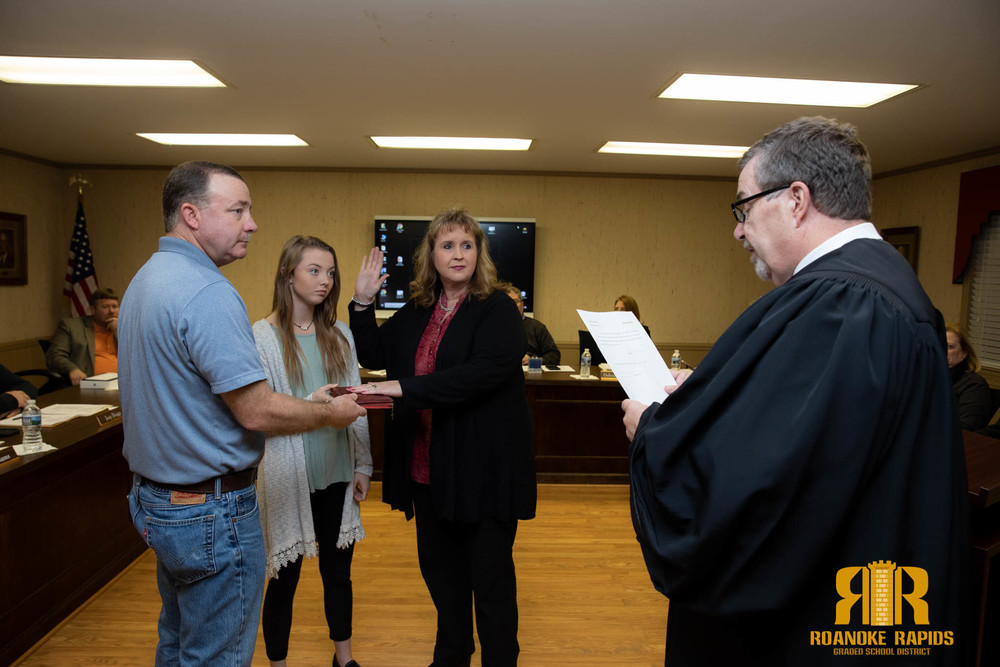 Colston Sworn In as New RRGSD Trustee, Schools Honored by State