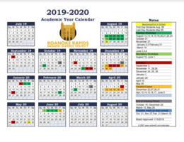 RRGSD Board Approves 2019-2020 School Calendar