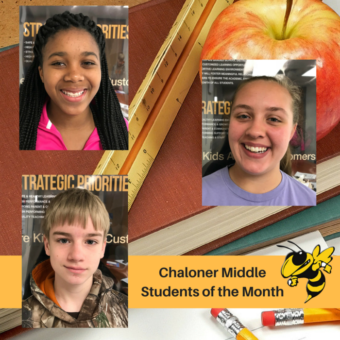 Chaloner Students of the Month