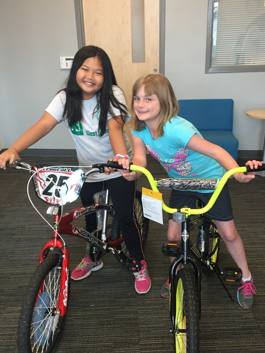 Congratulations to Amy Guo and Madelyn Hollowell, the winners of our Horace Mann perfect attendance bike drawing! We are so proud of ALL of our students with perfect attendance! #KidsAreOurCustomers