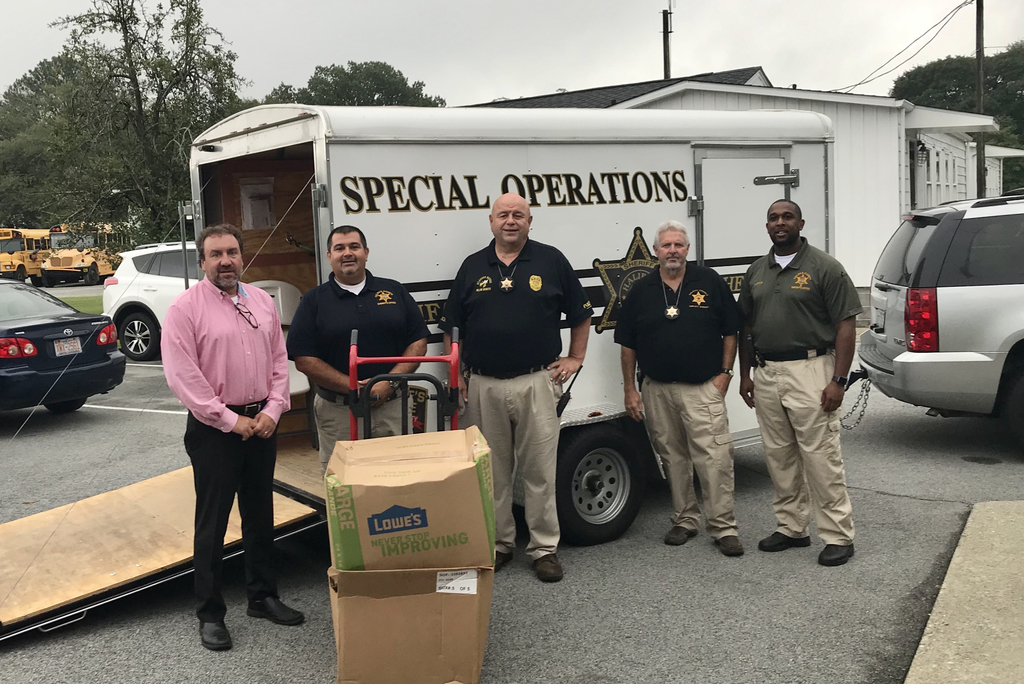 Sheriff supply donations