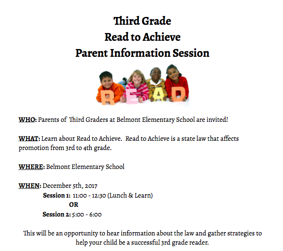 Read to Achieve Info Session